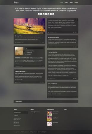 博客类英文网站模板制作电脑图片