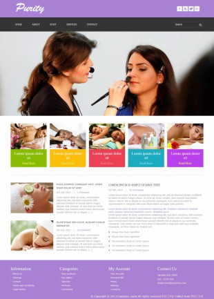 女士SAP类英文网站模板制作电脑图片