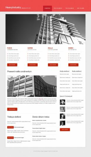 房产类英文网站模板制作电脑图片