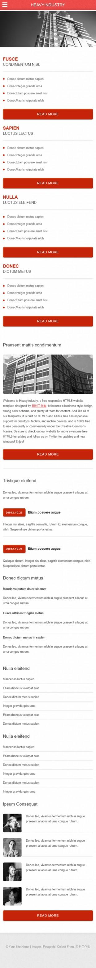 房产类英文网站模板制作手机图片