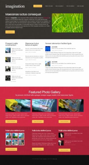 产品展示类英文网站模板制作电脑图片