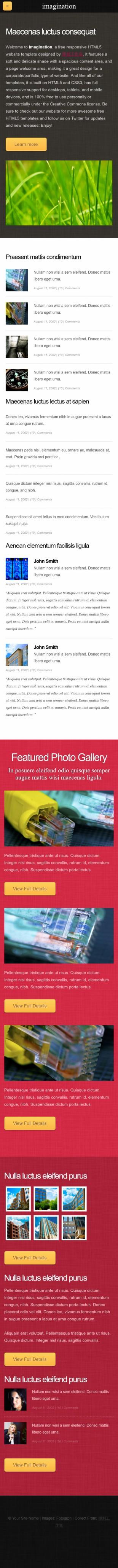 产品展示类英文网站模板制作手机图片