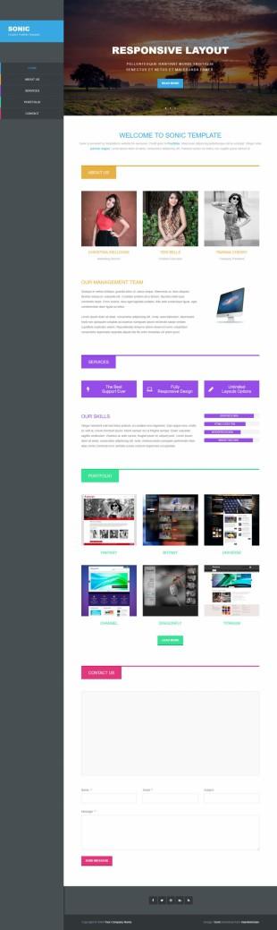 个性设计互联网英文网站制作模板响应式网站电脑图片