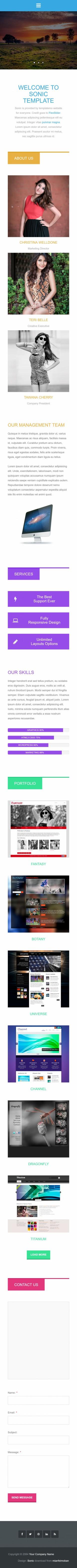 个性设计互联网英文网站制作模板响应式网站手机图片