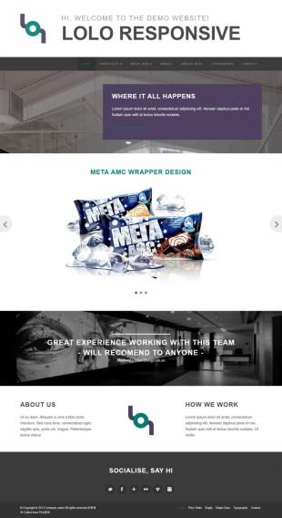 产品设计类英文网站制作模板电脑图片