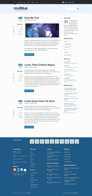 日历式新闻类英文网站制作模板电脑图片