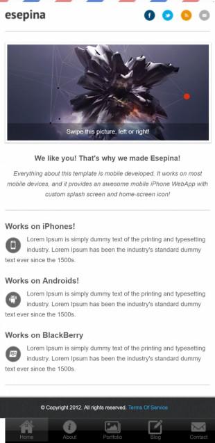 webapp设计类英文网站模板制作手机图片
