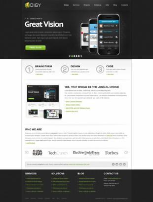 手机应用类网站首页英文网站制作模板电脑图片