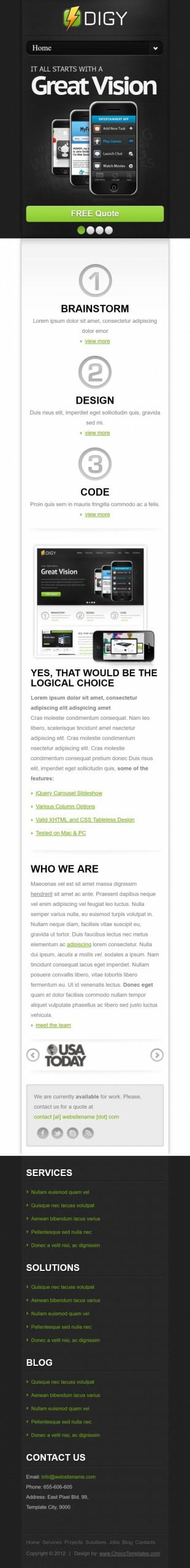 手机应用类网站首页英文网站制作模板手机图片
