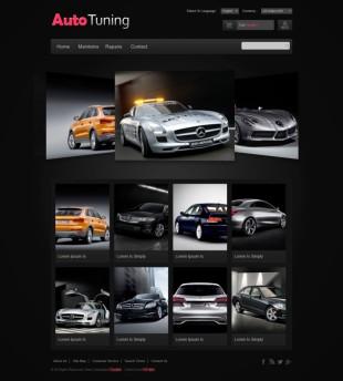 3D幻灯黑色大图汽车展示英文响应式网站模板建设电脑图片