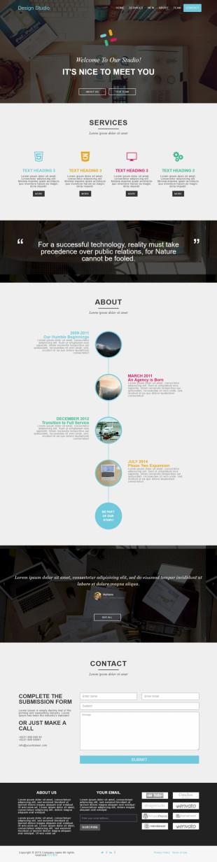UI设计师项目展示英文官网模板网站制作响应式网站电脑图片