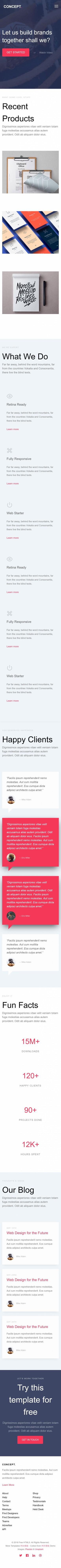 UX设计公司企业官网英文网站建设模板手机图片
