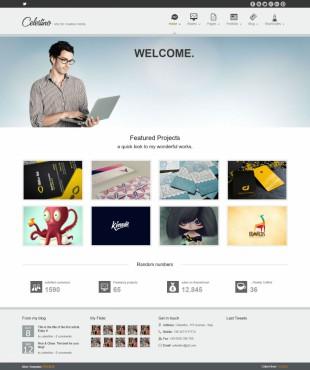 动画商务宽屏科技整站模板网站制作电脑图片