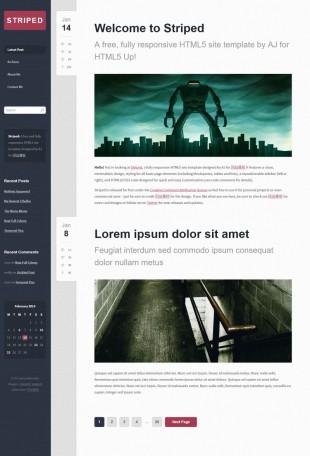 暗蓝色亚麻质感UI博客模板网站制作电脑图片