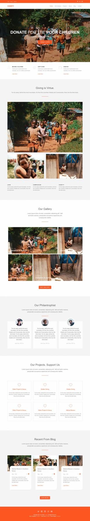 儿童公益组织企业官网模板网站制作电脑图片