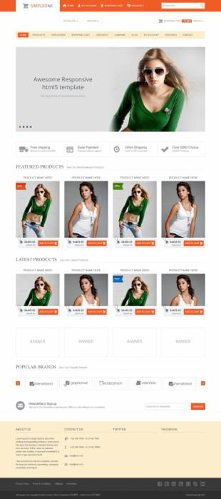 响应式服装网购商城企业模板网站制作电脑图片