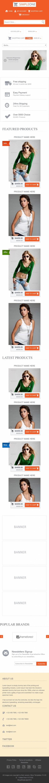 响应式服装网购商城企业模板网站制作手机图片