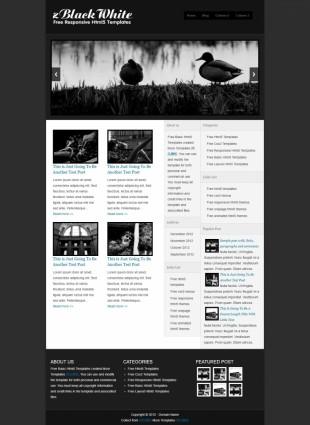 纯黑博客幻灯主题PC手机模板网站制作电脑图片