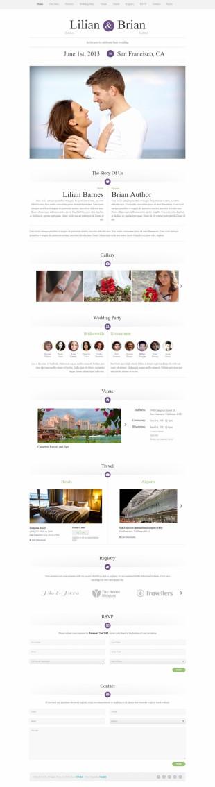结婚主页html5模板网站制作电脑图片