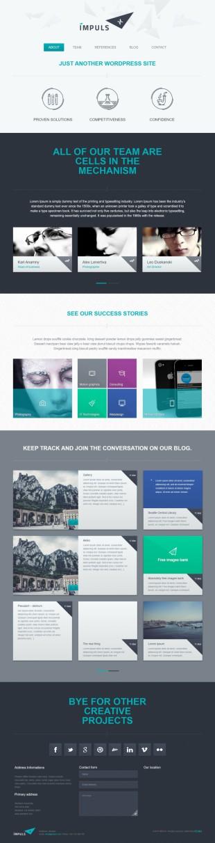 大气商业web设计公司bootstrap英文企业模板电脑图片