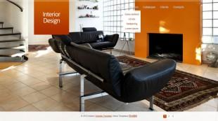 大图背景仿flash家居家装商务企业英文网站模板电脑图片