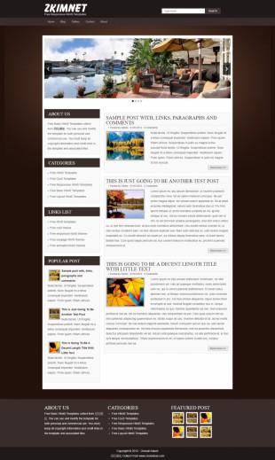 房产家居类html5英文网站模板制作电脑图片
