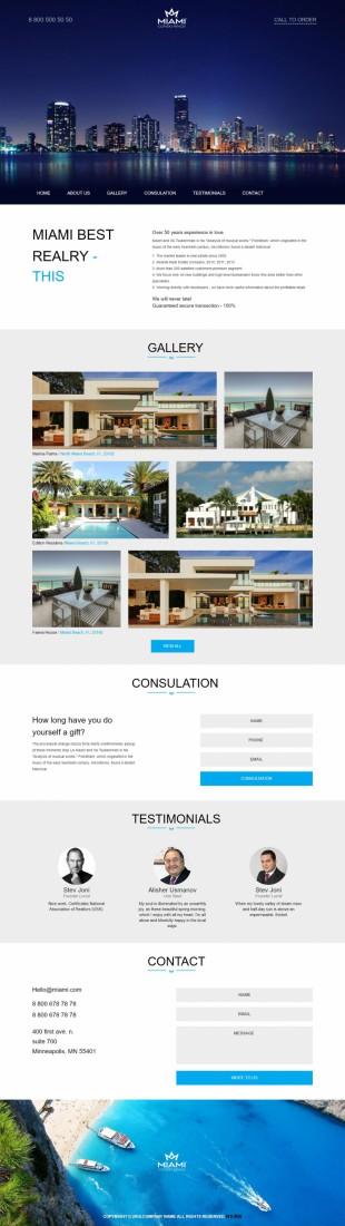 房地产公司别墅楼盘展示bootstrap英文网站模板响应式网站电脑图片