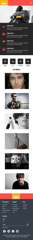 粉色简洁服装模特写真公司网站英文网站制作模板手机图片