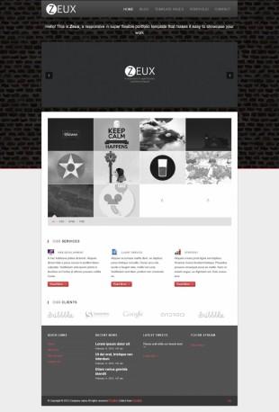 个性平面设计师作品展示英文站网站制作模板电脑图片