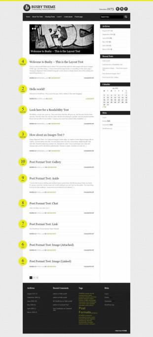 黑白纹理精致个性的博客英文网站制作模板电脑图片