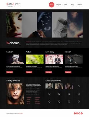 黑色扁平化服装设计企业英文网站制作模板电脑图片