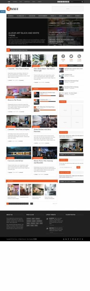房产装修类英文网站制作模板电脑图片