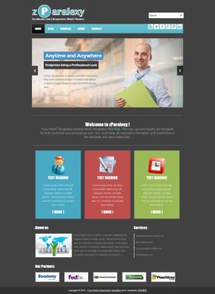 黑色大气商务responsive手机PC网站英文网站制作模板电脑图片