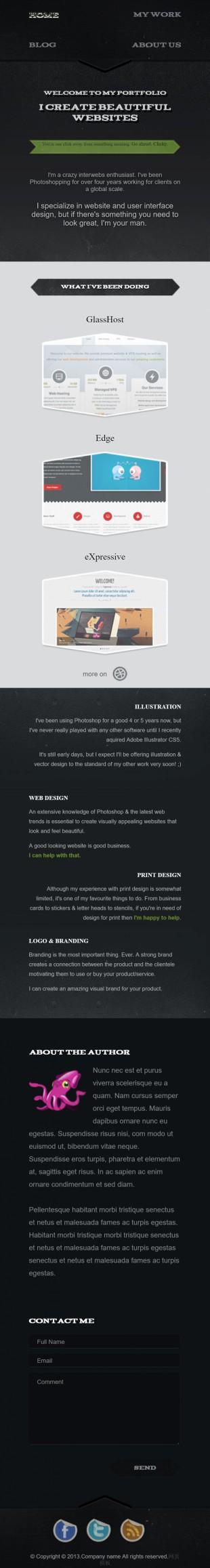 黑色复古背景网站设计官网英文网站制作模板手机图片
