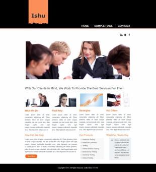 黑色个性的大图商务英文模板网站制作电脑图片