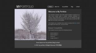 黑色个性动画导航博客英文模板网站制作电脑图片