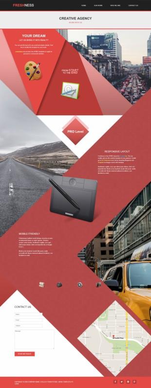 黑色个性设计平面设计师案例展示英文模板网站建设响应式网站电脑图片