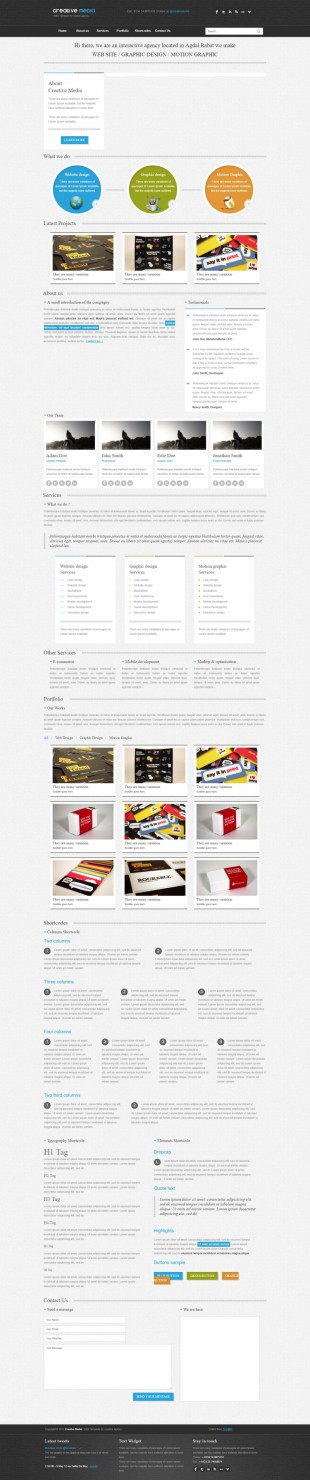 黑色画册设计企业官网英文模板网站制作电脑图片