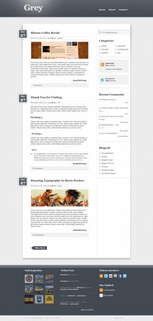 黑色简单个人博客首页英文模板网站制作电脑图片