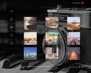 黑色精美个人摄影工作室英文模板网站制作电脑图片