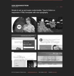 黑色视频图库相册展示英文模板网站建设电脑图片