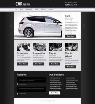 黑色纹理渐变汽车专题展示整站英文模板网站制作电脑图片