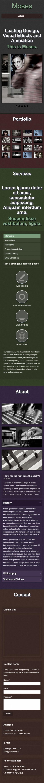 大图幻灯视觉设计英文网站制作模板响应式网站手机图片