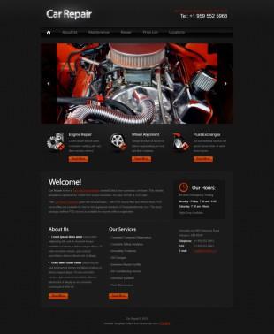 黑色炫酷汽车零件批发企业英文网站制作模板电脑图片