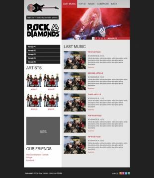 红黑系摇滚音乐乐队官网首页英文网站制作模板电脑图片