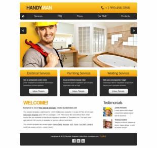 黄色系家居家装公司商业网站模板英文网站制作模板电脑图片
