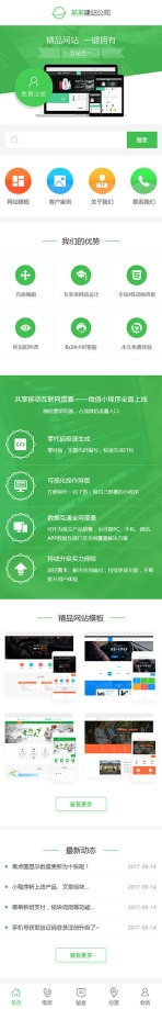 网站建设公司网页设计类企业模板手机图片