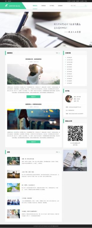 个人文章类博客网站建设模板电脑图片