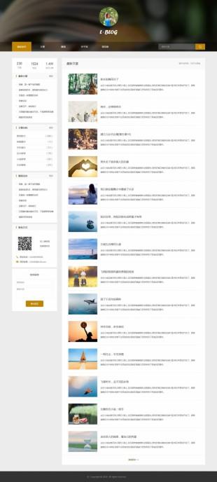 个人博客类网站建设模板电脑图片