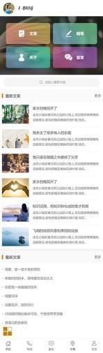 个人博客类网站建设模板手机图片